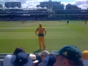 Mitch Johnson of the conquering Aussies
